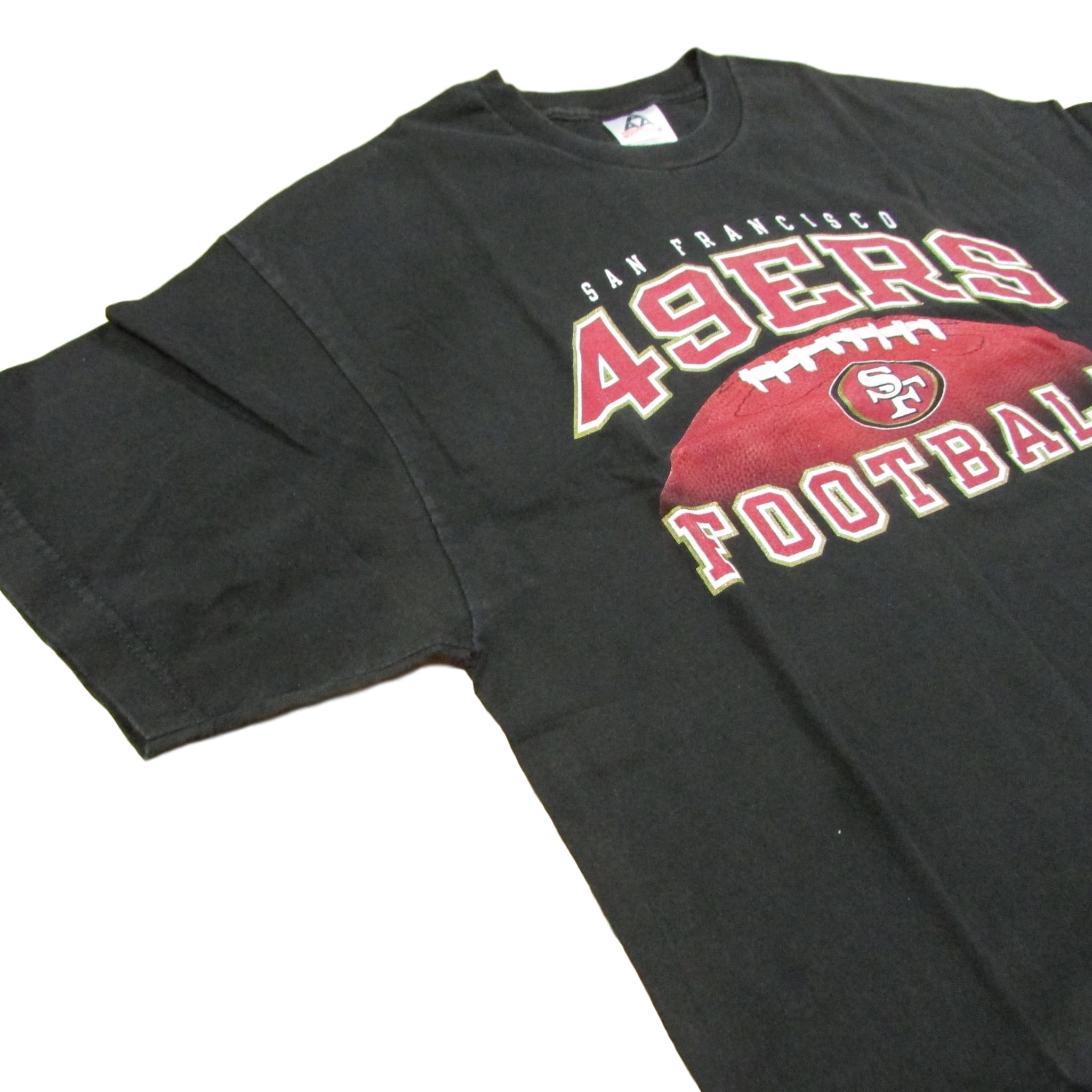 San Francisco 49ers Football T-Shirt Black & Red Sz XL