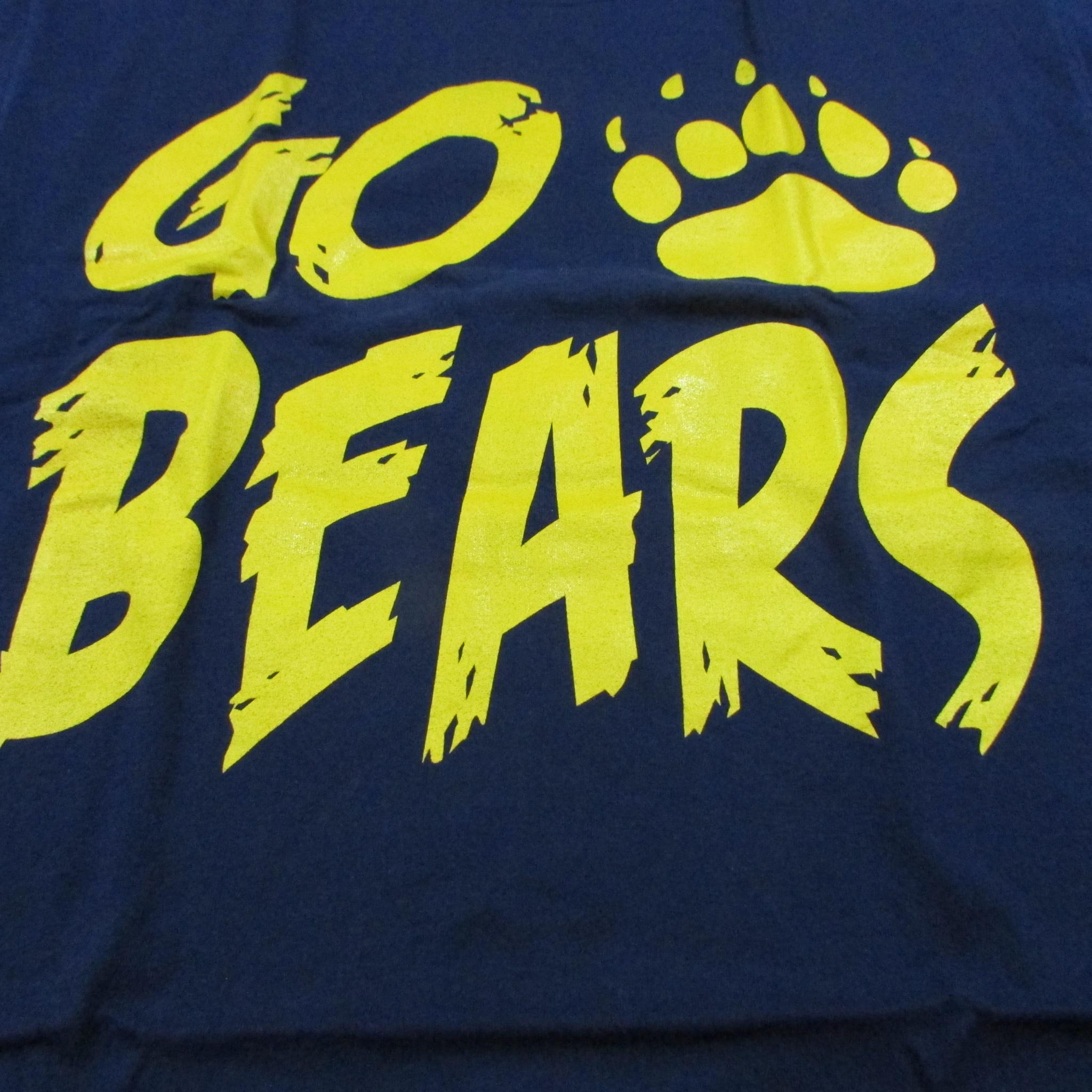UC Berkeley GO BEARS College Football T-Shirt Sz L