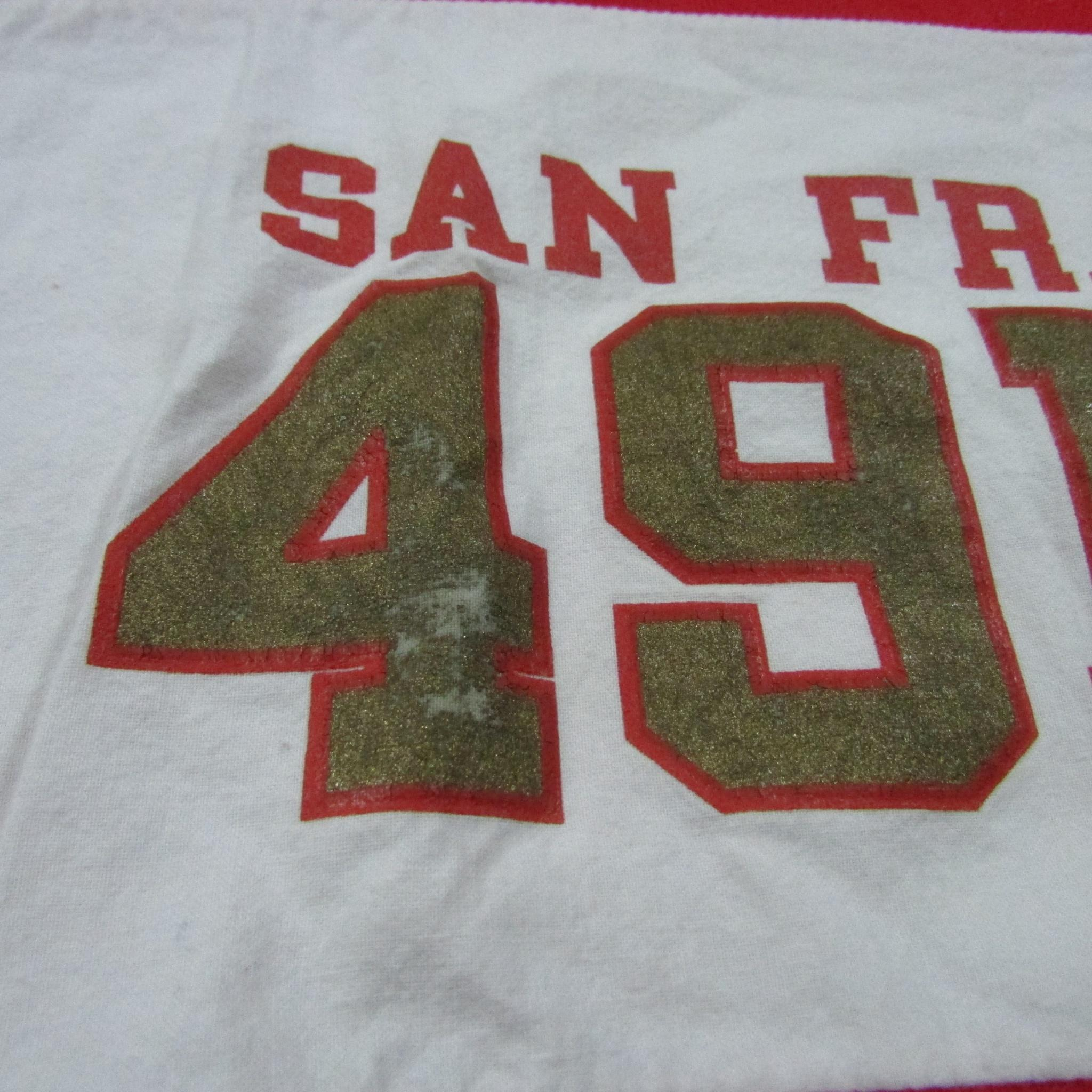 San Francisco 49ers Classic 80's Football Sweater NUTMEG MILLS Sz XL