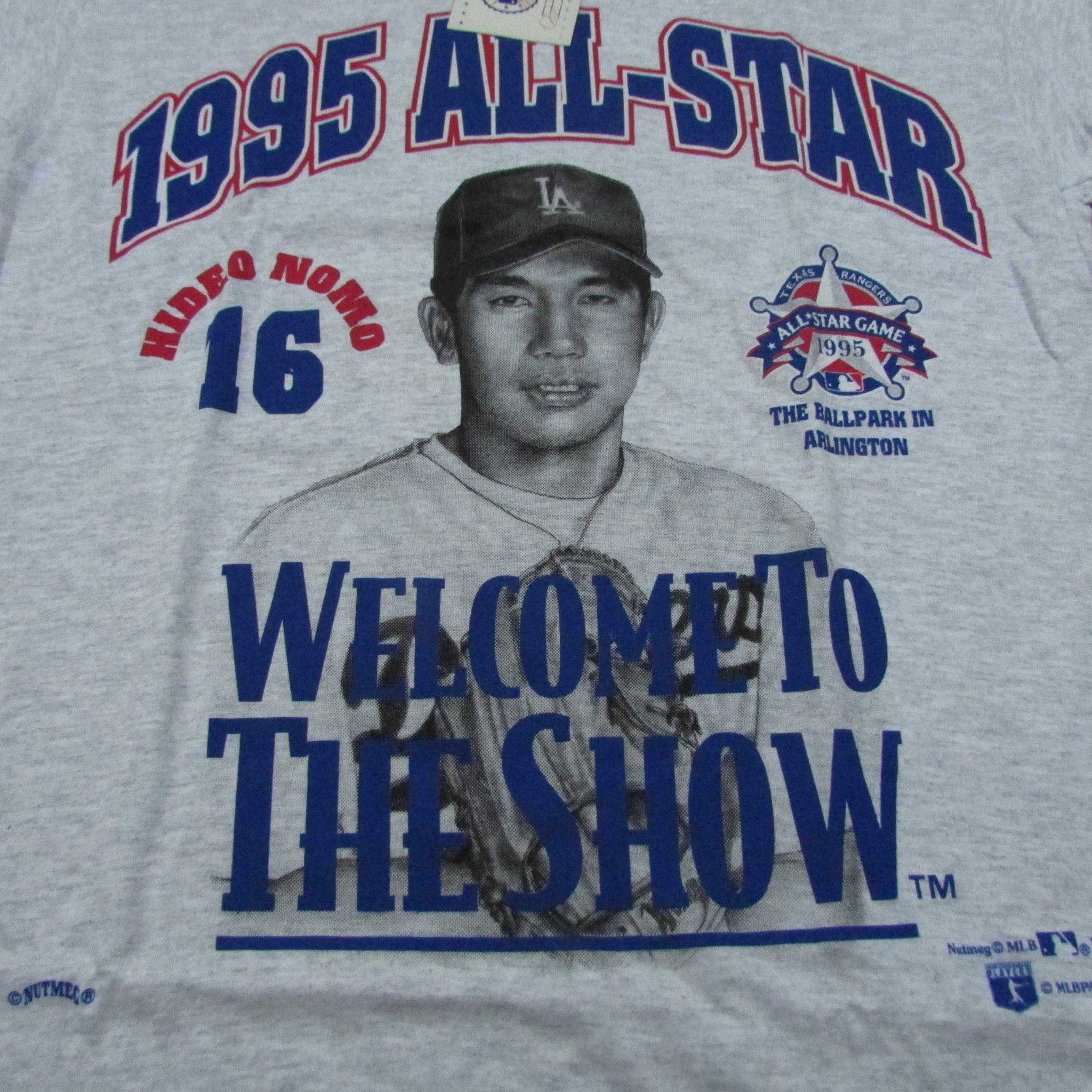 1995 Baseball All-Star Hideo Nomo Los Angeles Dodgers Deadstock T-Shirt NUTMEG MILLS Sz L