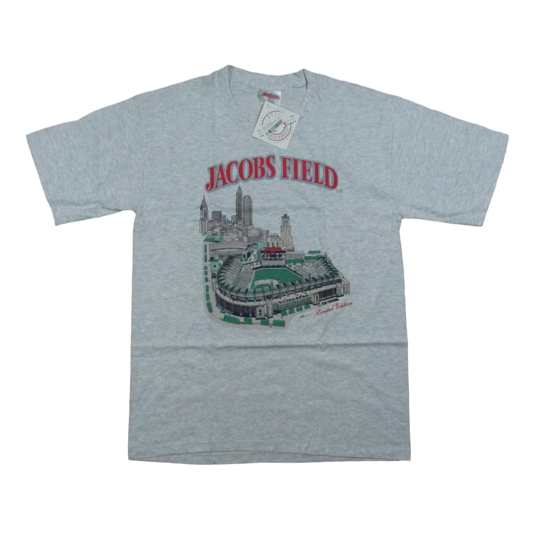 Classic Cleveland Indians Jacobs Field Baseball Park T-Shirt Deadstock Sz L