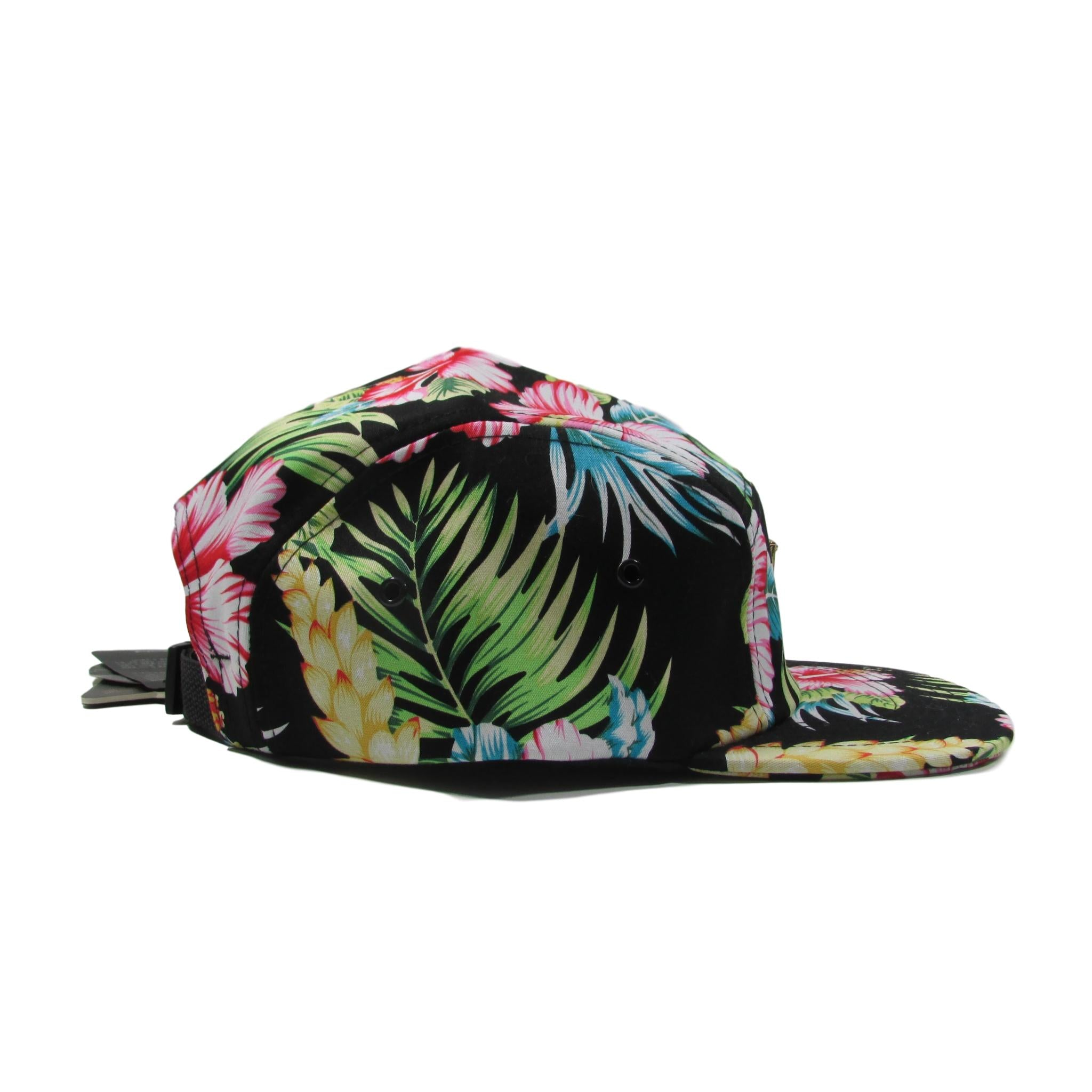 HATer Floral Hawaii Pattern 5 Panel Strapback Hat
