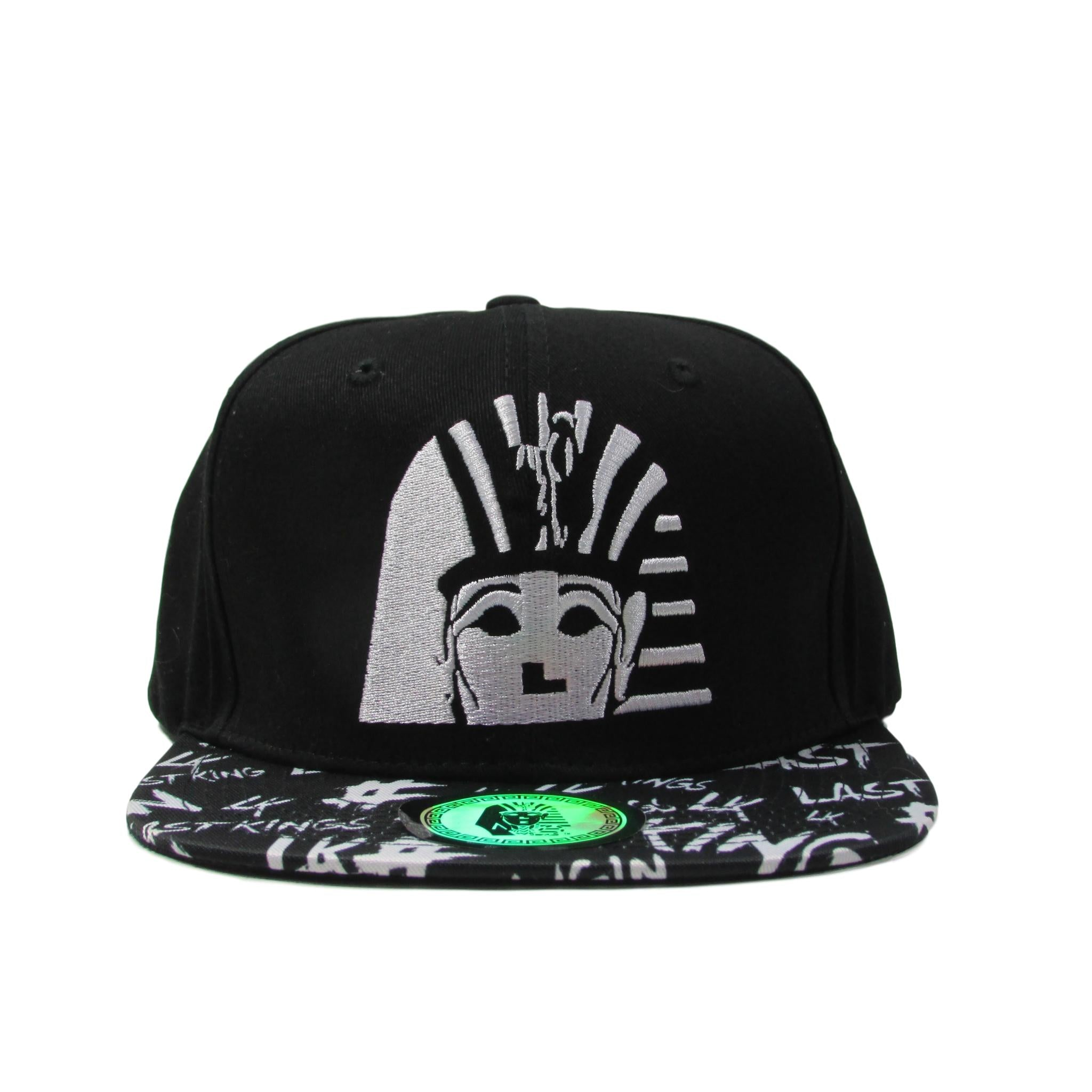 Last Kings Big Pharaoh Snapback Hat w/ LK Font Velour Brim