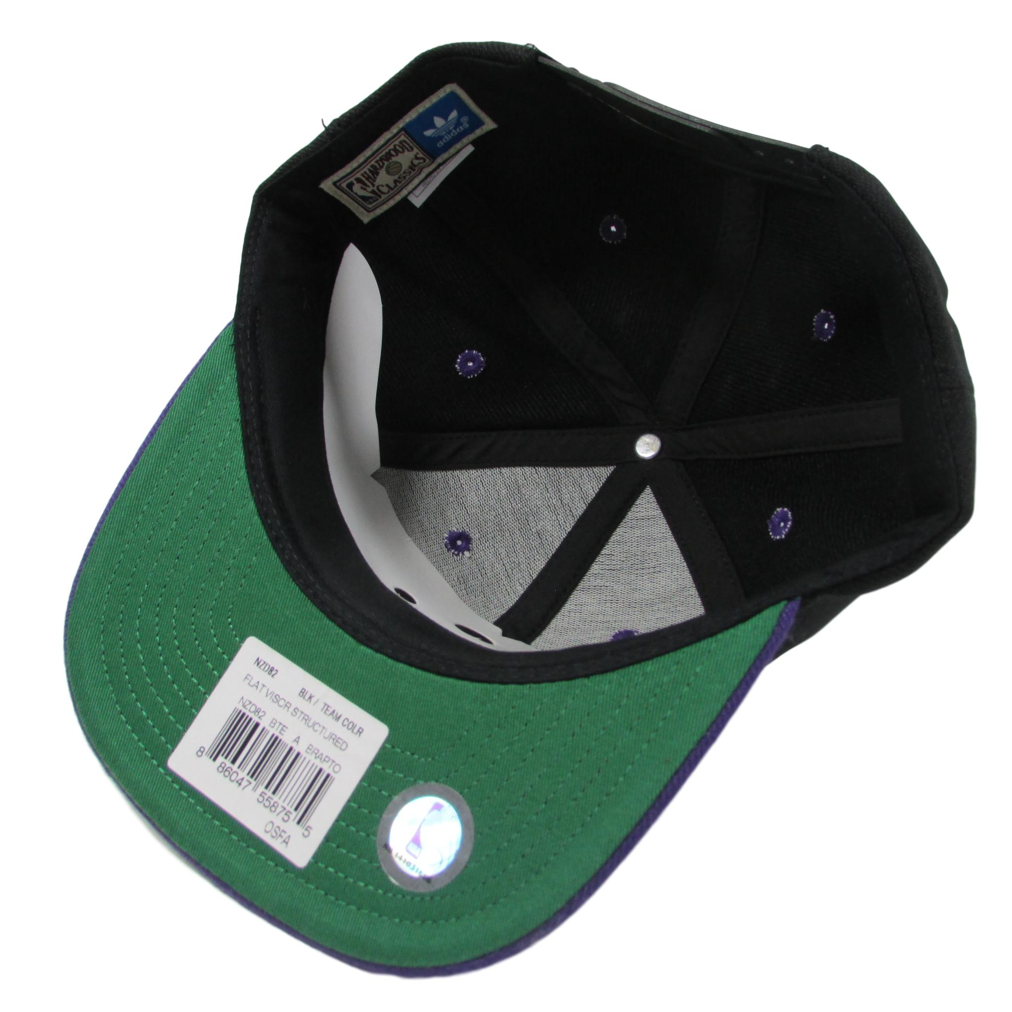 Toronto Raptors Black and Purple Basketball Snapback Hat Adidas