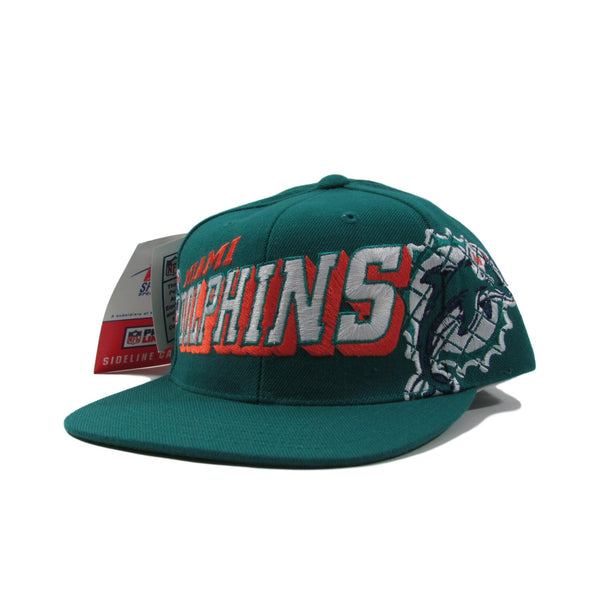Miami Dolphins NFL Deadstock Football Snapback Hat 3d Raised Font PRO LINE