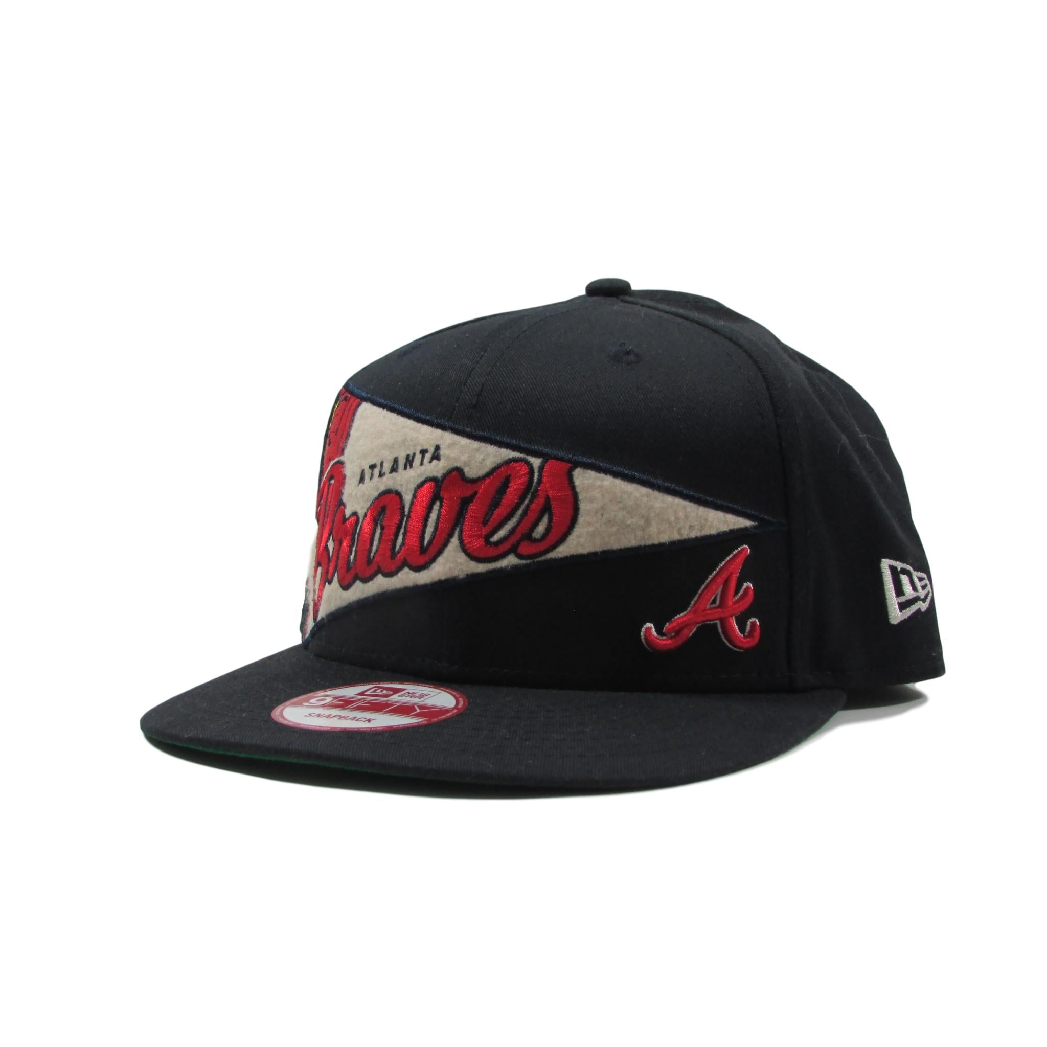 Atlanta Braves Baseball Snapback Hat Pennant Banner Style New Era