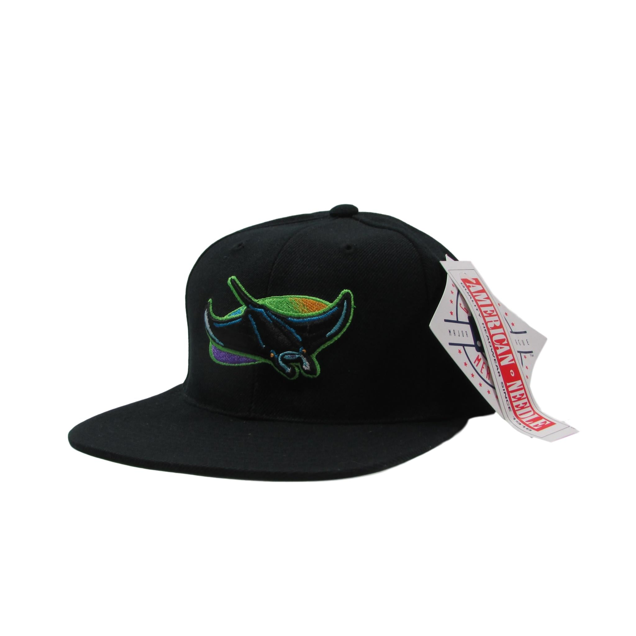 Tampa Bay Devil Rays Deadstock 1998 Baseball Snapback Hat AMERICAN NEEDLE