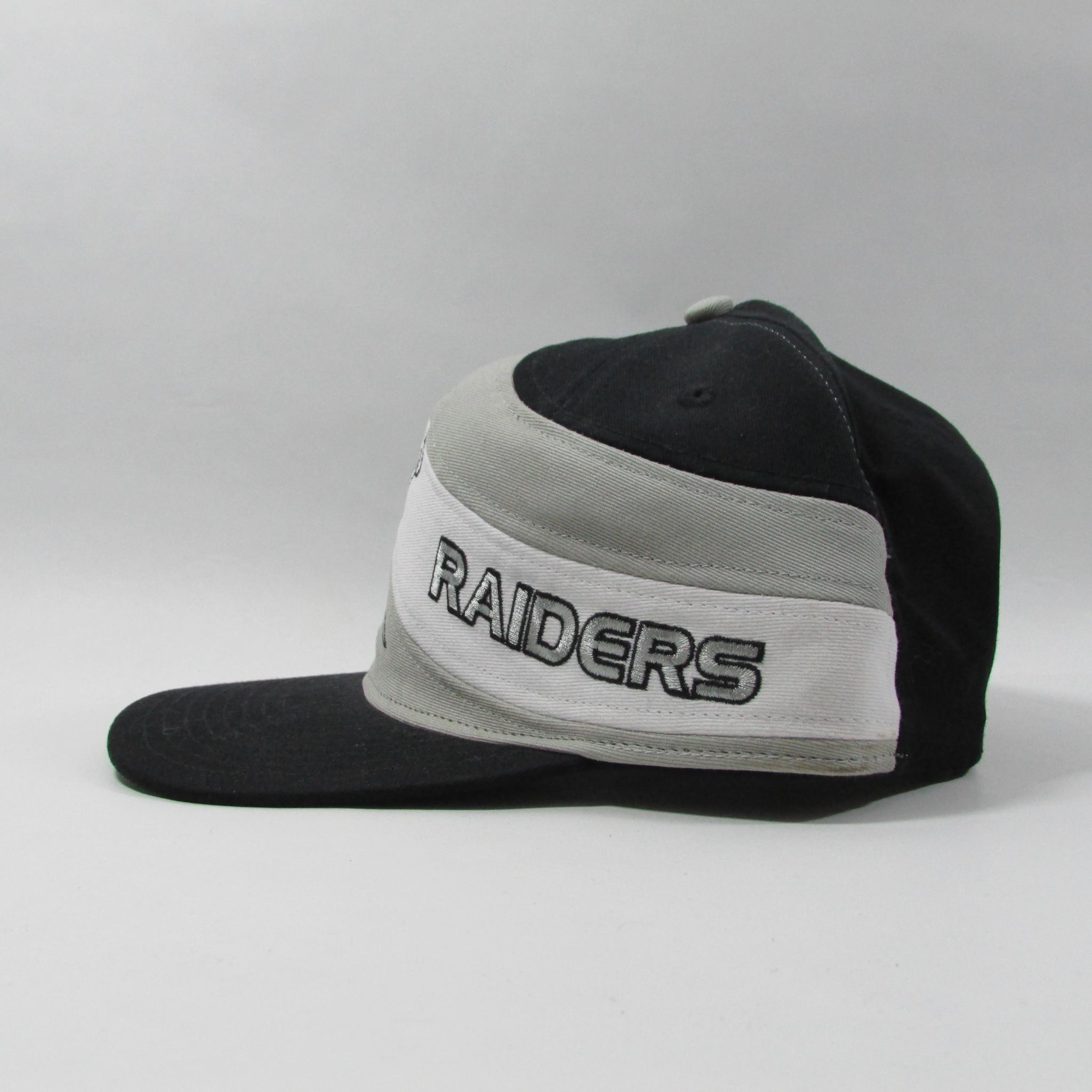 Oakland Raiders Football Snapback Hat w/ Side Swipe Font Vintage