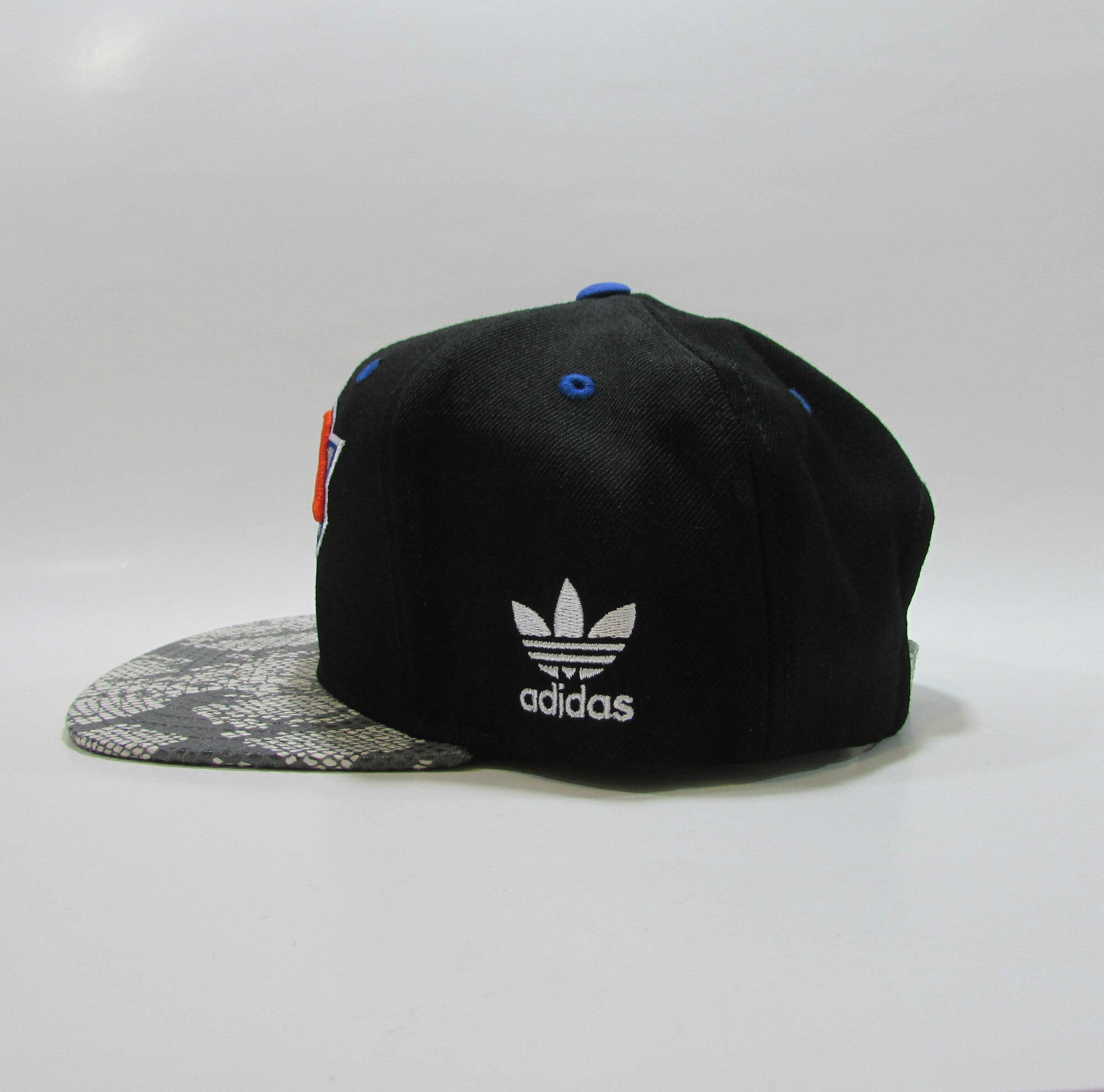 New York Knicks NBA Snakeskin Leather Snapback Hat by Adidas