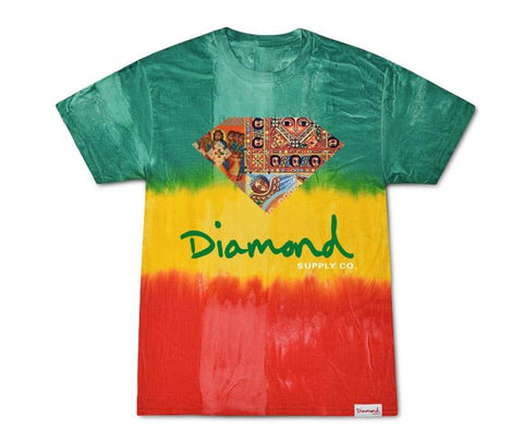 Diamond Supply Co Ethiopian Diamond Tie Dye T-Shirt
