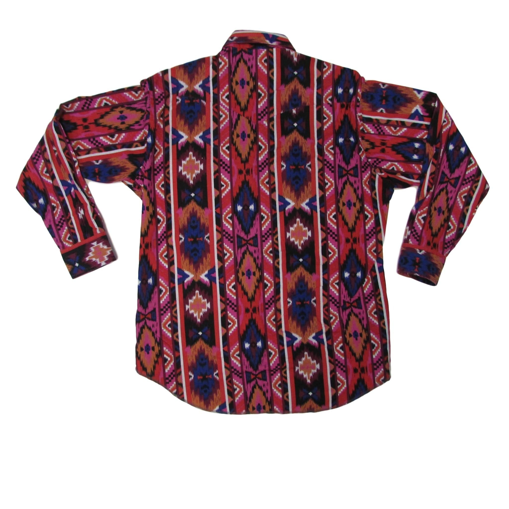 Wrangler Western Cowboy Long Sleeve Shirt w/ Tribal Print