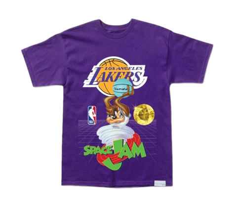 Diamond X Space Jam Los Angeles Lakers T-Shirt - Purple