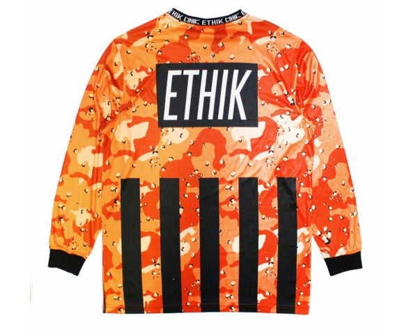Ethik Clothing Futbol Shootout Goalie Jersey Orange Camo
