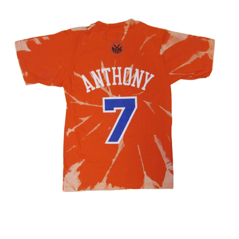 New York Knicks Carmelo Anthony Tie Dye Bleach T-Shirt Sz S