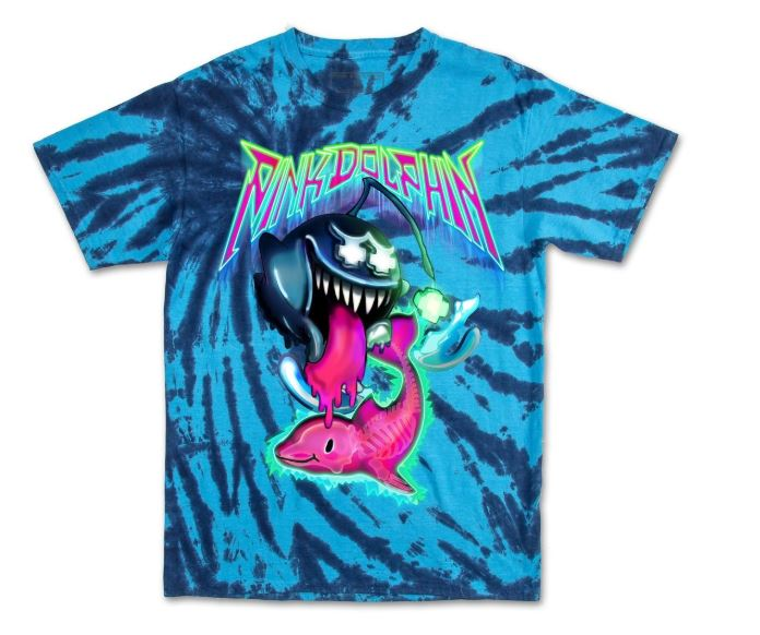 Pink Dolphin Ghost Angler Tie Dye T-Shirt