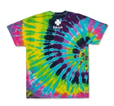 Pink Dolphin Holiday Portrait Tie Dye T Shirt