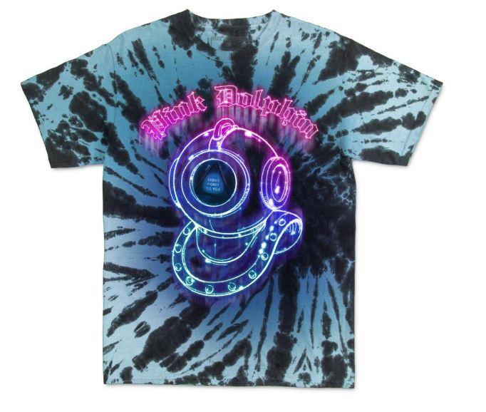 Pink Dolphin Magic Diver Tie Dye T-Shirt