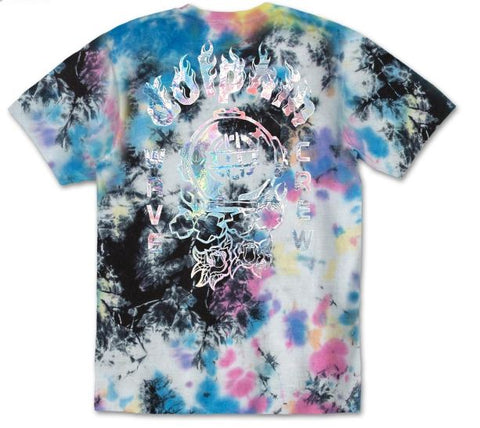 Pink Dolphin Rose Diver Tie Dye T-Shirt