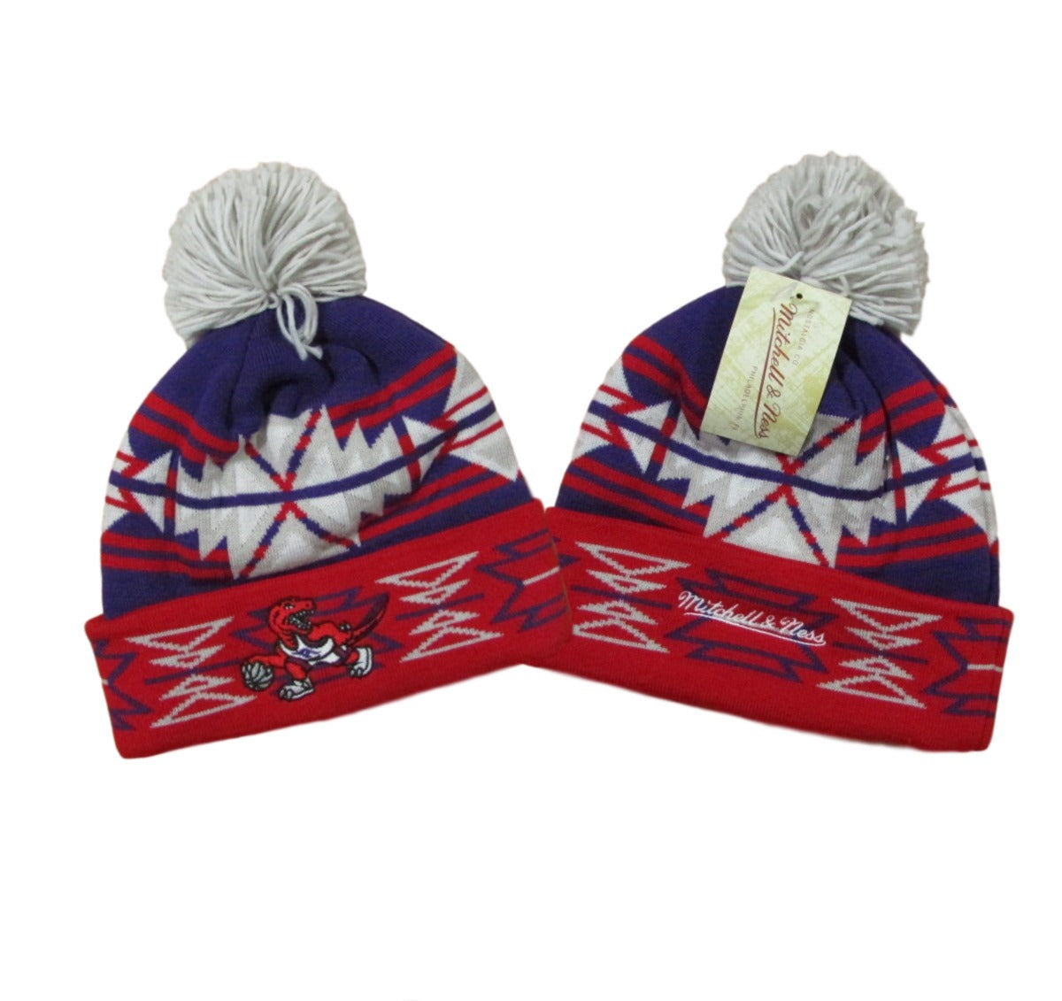 Toronto Raptors Tribal Pom Beanie Basketball Mitchell & Ness