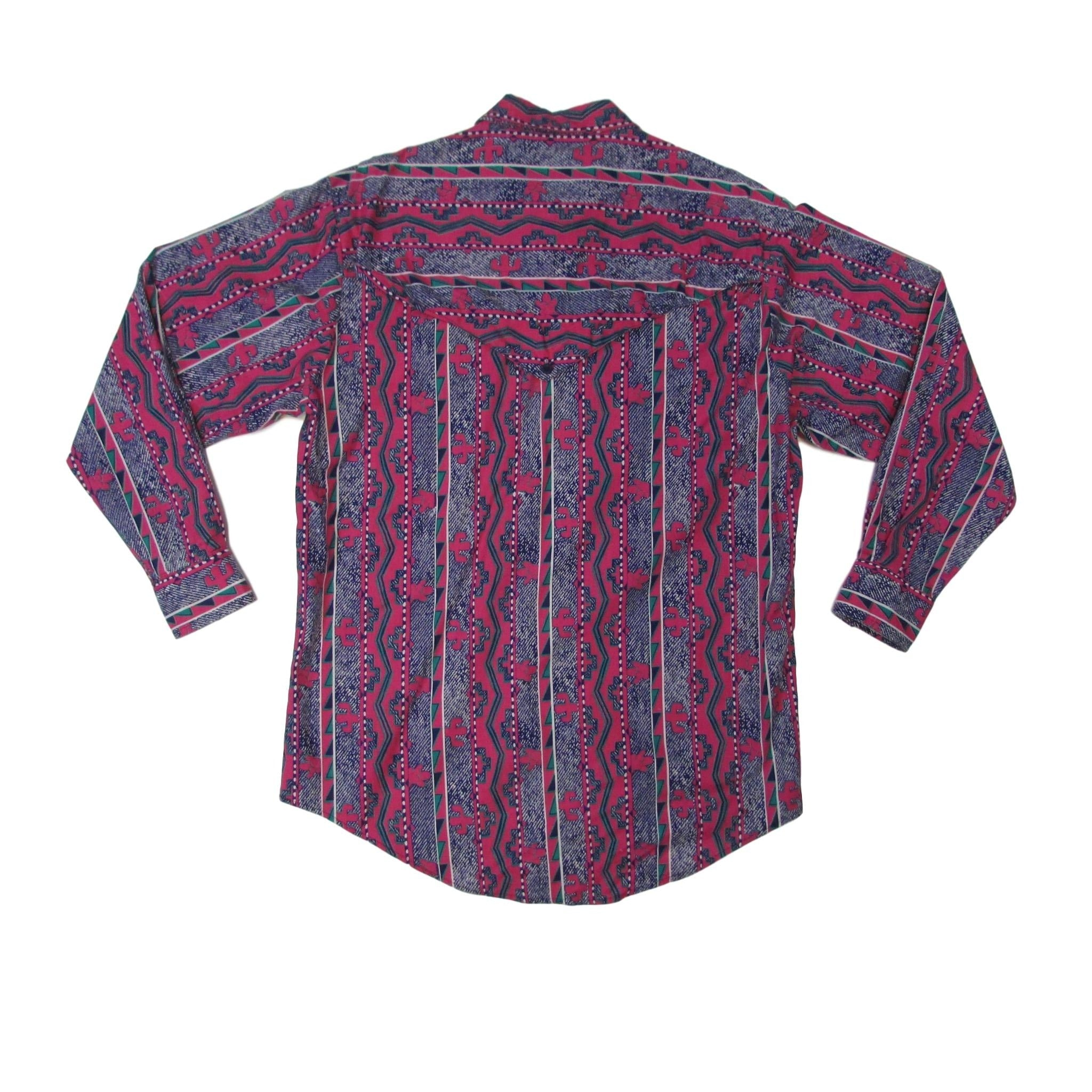 Rough Rider Western Cowboy & Cactus Long Sleeve Shirt