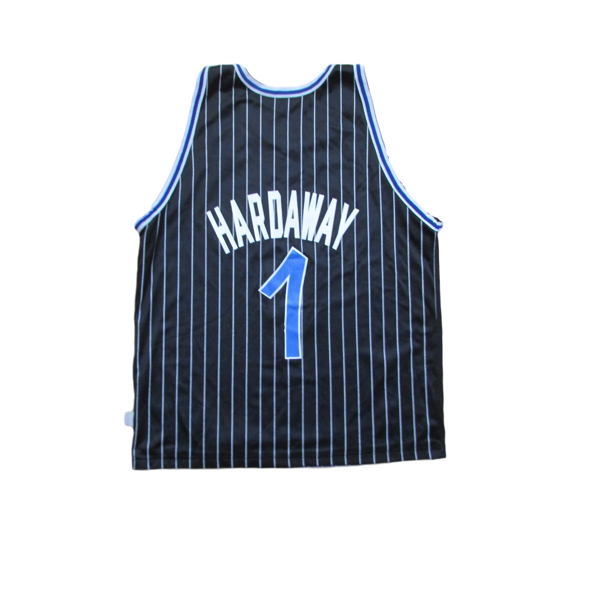 Orlando Magic Anfernee Hardaway Reversible Champion Jersey Pinstripes Sz 44