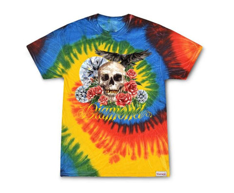 Diamond Supply Co Skull & Crow Tie Dye T-Shirt