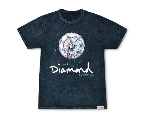 Diamond Supply Co Splash Sign Mineral Print T-Shirt