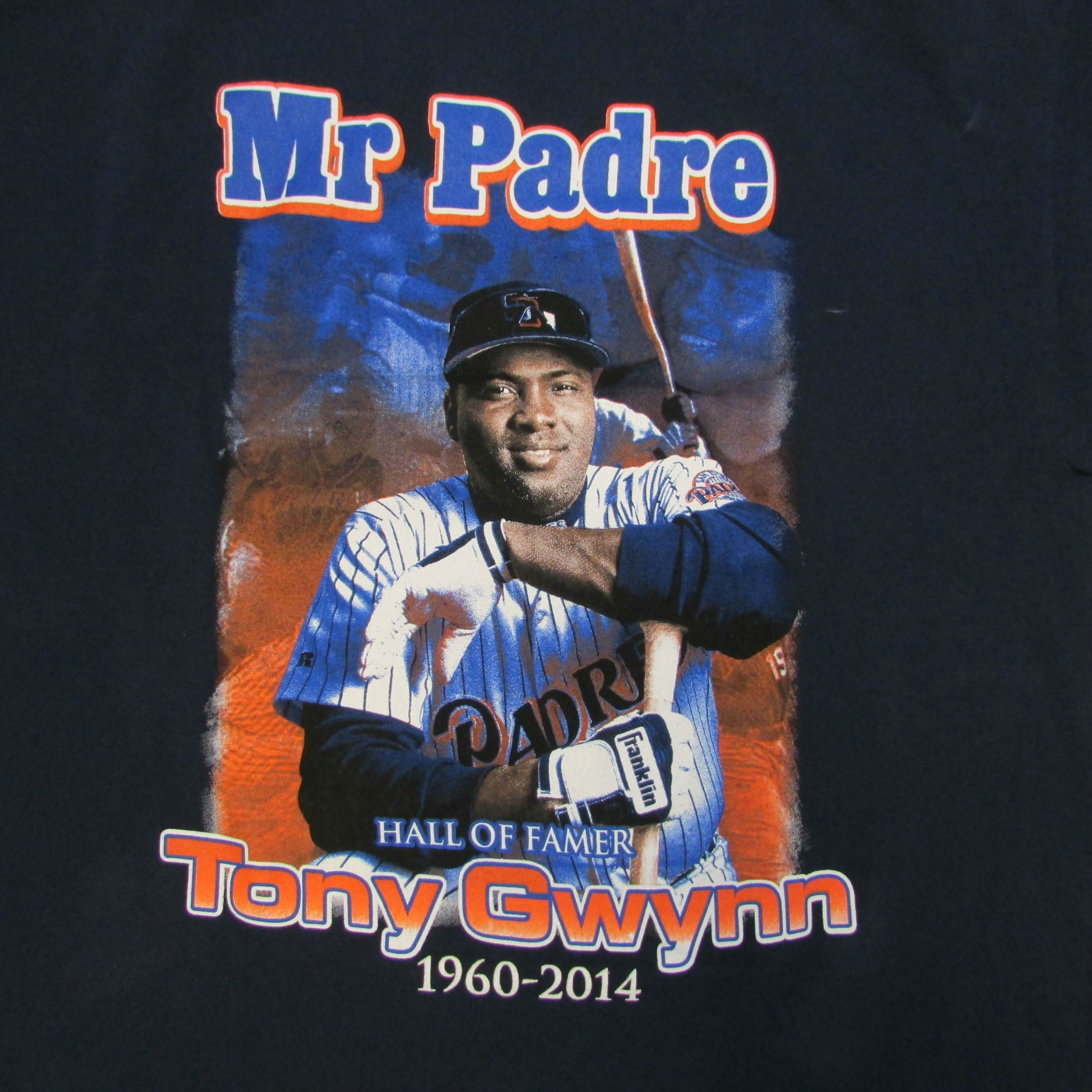 San Diego Padres Tony Gwynn Mr Padre Hall of Fame Baseball T-Shirt Sz XL