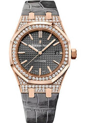 Audemars Piguet Ladies Royal Oak Collection Selfwinding Watch-Grey Dial 37mm-15452OR.ZZ.D003CR.01 - Luxury Time NYC INC