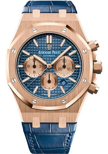 Audemars Piguet Royal Oak Chronograph Watch-Blue Dial 41mm-26331OR.OO.D315CR.01 - Luxury Time NYC INC