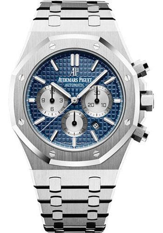 Audemars Piguet Royal Oak Chronograph Watch-Blue Dial 41mm-26331ST.OO.1220ST.01 - Luxury Time NYC INC