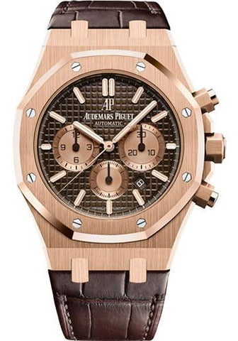 Audemars Piguet Royal Oak Chronograph Watch-Brown Dial 41mm-26331OR.OO.D821CR.01 - Luxury Time NYC INC