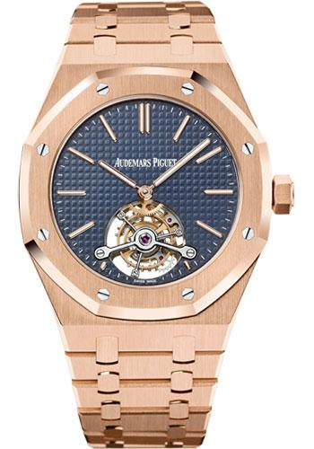 Audemars Piguet Royal Oak Extra-Thin Tourbillon Watch-Blue Dial 41mm-26510OR.OO.1220OR.01 - Luxury Time NYC INC