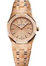 Load image into Gallery viewer, Audemars Piguet Royal Oak Frosted Gold Quartz Watch-Pink Dial 33mm-67653OR.GG.1263OR.02 - Luxury Time NYC INC