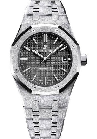 Audemars Piguet Royal Oak Frosted Gold Selfwinding Watch-Black Dial 37mm-15454BC.GG.1259BC.03 - Luxury Time NYC INC