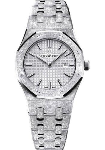 Audemars Piguet Royal Oak Frosted Gold Watch-Rhodium Dial 33mm-67653BC.GG.1263BC.01 - Luxury Time NYC INC