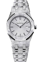 Load image into Gallery viewer, Audemars Piguet Royal Oak Frosted Gold Watch-Rhodium Dial 33mm-67653BC.GG.1263BC.01 - Luxury Time NYC INC