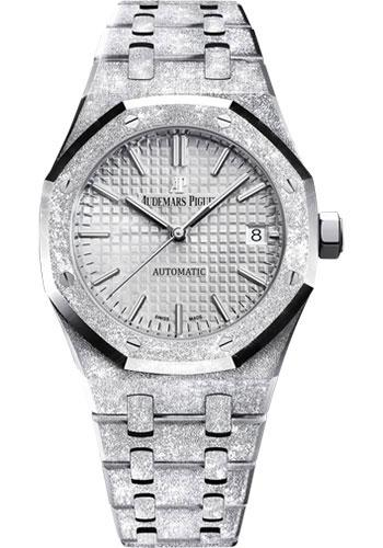 Audemars Piguet Royal Oak Frosted Gold Watch-Rhodium Dial 37mm-15454BC.GG.1259BC.01 - Luxury Time NYC INC