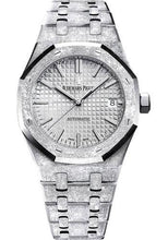 Load image into Gallery viewer, Audemars Piguet Royal Oak Frosted Gold Watch-Rhodium Dial 37mm-15454BC.GG.1259BC.01 - Luxury Time NYC INC