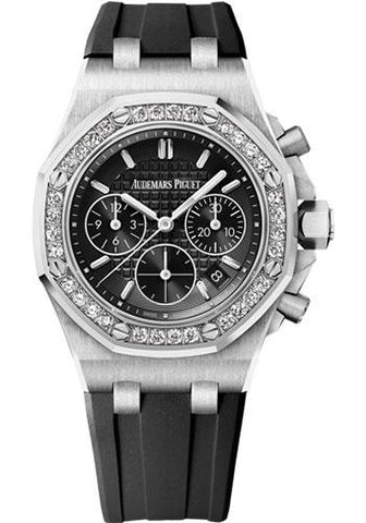 Audemars Piguet Royal Oak Offshore Chronograph Watch-Black Dial 37mm-26231ST.ZZ.D002CA.01 - Luxury Time NYC INC