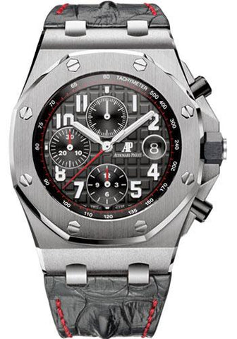 Audemars Piguet Royal Oak Offshore Chronograph Watch-Black Dial 42mm-26470ST.OO.A101CR.01 - Luxury Time NYC INC