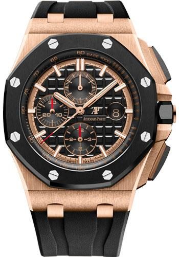 Audemars Piguet Royal Oak Offshore Chronograph Watch-Black Dial 44mm-26401RO.OO.A002CA.02 - Luxury Time NYC INC