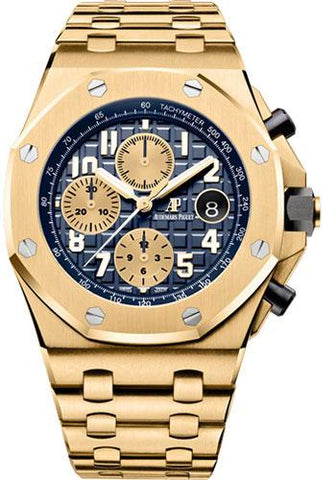 Audemars Piguet Royal Oak Offshore Chronograph Watch-Blue Dial 42mm-26470BA.OO.1000BA.01 - Luxury Time NYC INC
