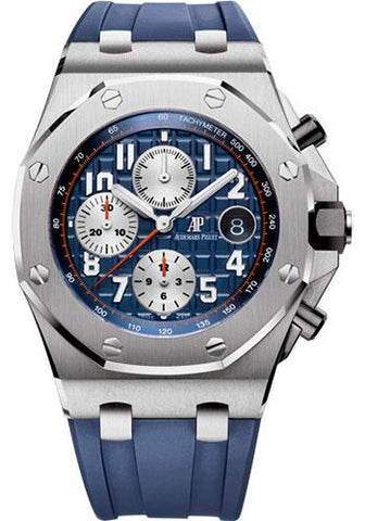 Audemars Piguet Royal Oak Offshore Chronograph Watch-Blue Dial 42mm-26470ST.OO.A027CA.01 - Luxury Time NYC INC