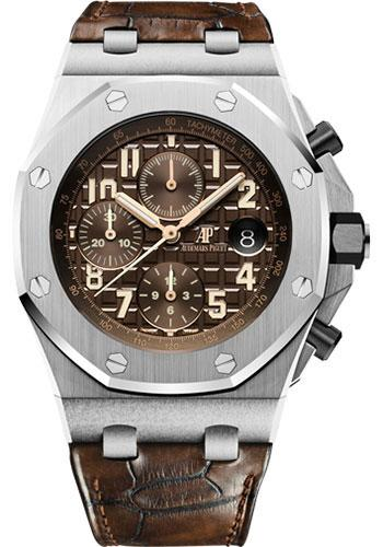 Audemars Piguet Royal Oak Offshore Chronograph Watch-Brown Dial 42mm-26470ST.OO.A820CR.01 - Luxury Time NYC INC