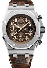 Load image into Gallery viewer, Audemars Piguet Royal Oak Offshore Chronograph Watch-Brown Dial 42mm-26470ST.OO.A820CR.01 - Luxury Time NYC INC