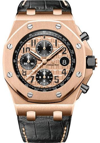 Audemars Piguet Royal Oak Offshore Chronograph Watch-Pink Dial 42mm-26470OR.OO.A002CR.01 - Luxury Time NYC INC