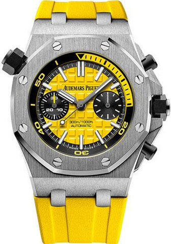 Audemars Piguet Royal Oak Offshore Diver Chronograph Limited Edition of 375 Watch-Yellow Dial 42mm-26703ST.OO.A051CA.01 - Luxury Time NYC INC