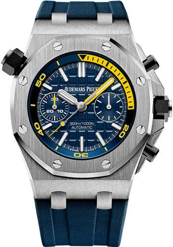 Audemars Piguet Royal Oak Offshore Diver Chronograph Limited Edition of 400 Watch-Blue Dial 42mm-26703ST.OO.A027CA.01 - Luxury Time NYC INC