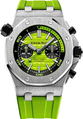 Audemars Piguet Royal Oak Offshore Diver Chronograph Watch-Green Dial 42mm-26703ST.OO.A038CA.01 - Luxury Time NYC INC